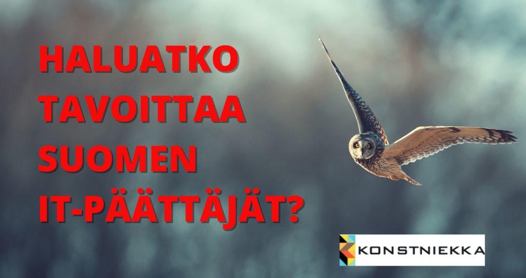 AUTAMME LÖYTÄMÄÄN IT-PÄÄTTÄJÄT – VAI TEETKÖ SEN ITSE